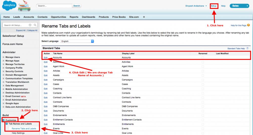 Rename Tabs Labels
