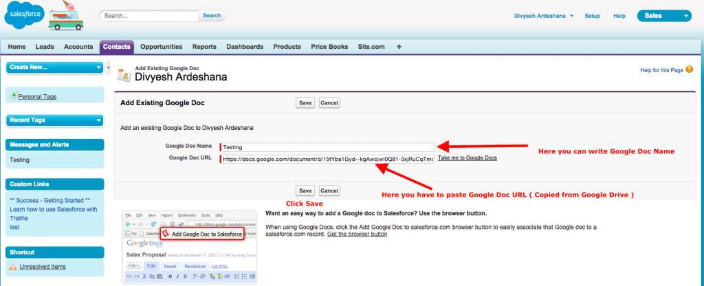 Link Google File
