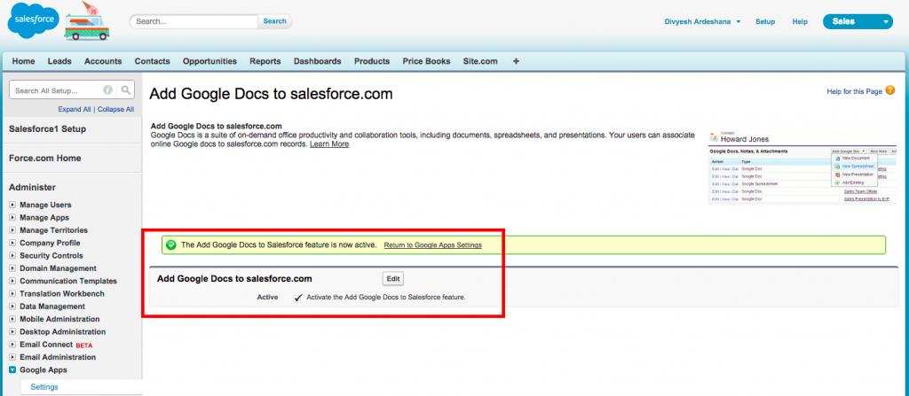 Add Google Docs Salesforce