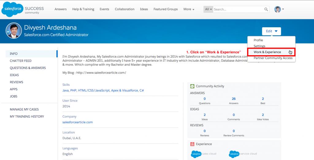 Salesforce Community Profile