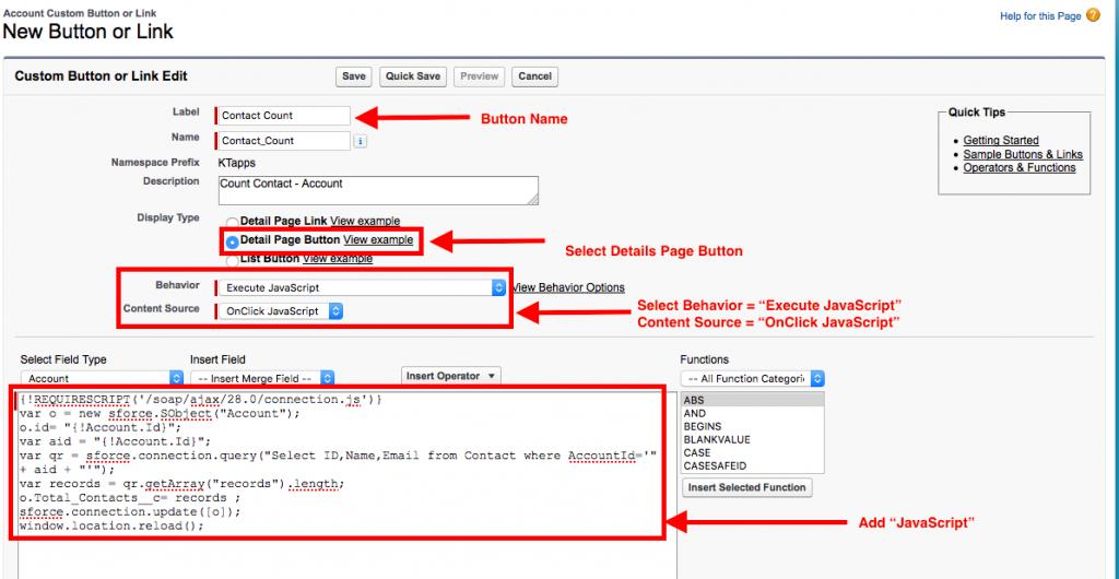 Contact Contact Java Script