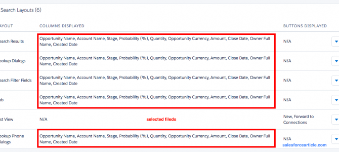 How to Customize Opportunity Search Layouts in Lightning Experience ?