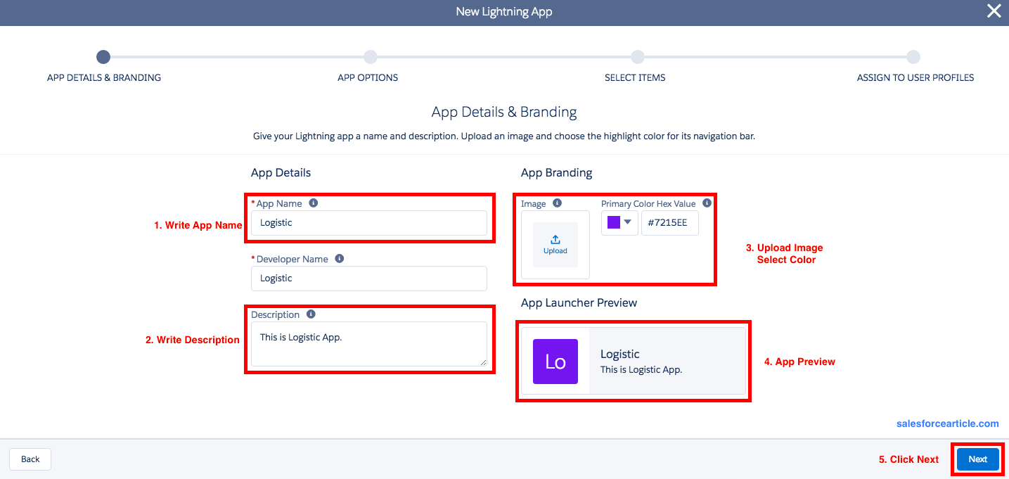 Logistic_App how to create app in lightning experience ? fuse box app at n-0.co
