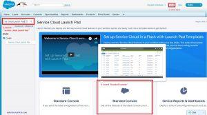 Setup Service Cloud Launch Pad