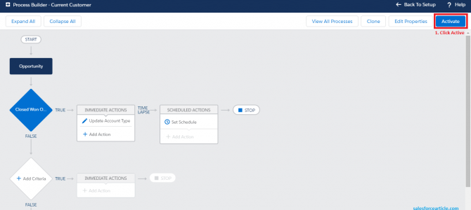 How to update Customer Status using Process Builder ?